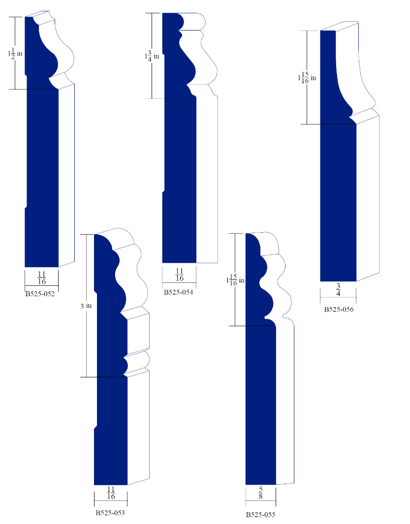 Catalog moulding knives baseboards a Baseboard height