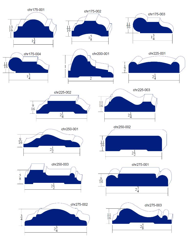 Chair Rail Molding Profiles Part - 41: Chair Rails: